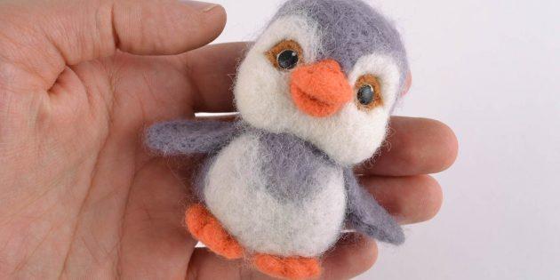 Пингвин в технике фелтинга