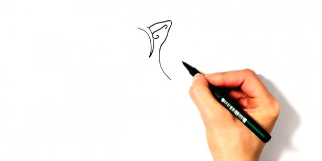 Изобразите треугольное ушко