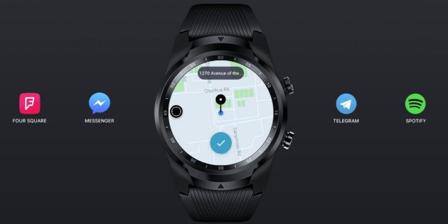 Mobvoi TicWatch Pro LTE имеют GPS