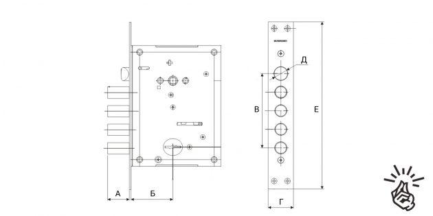 Замена замков в двери: измерение габаритов