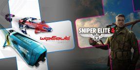 Wipeout и Sniper Elite 4: названы бесплатные игры PS Plus в августе