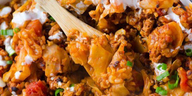 Ленивые голубцы с базиликом, орегано и тимьяном: рецепт