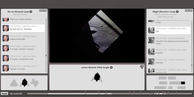 Первая высадка на Луну в реальном времени