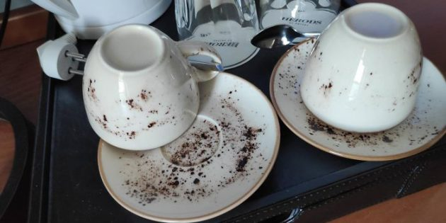 Неудачный дизайн: посуда в гостинице
