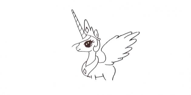 Плавными изогнутыми линиями изобразите крыло