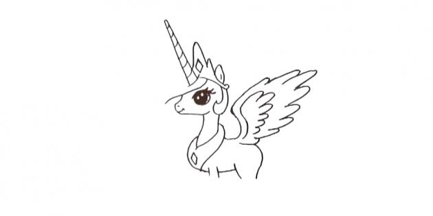 Внутри большого крыла прорисуйте ещё одно поменьше