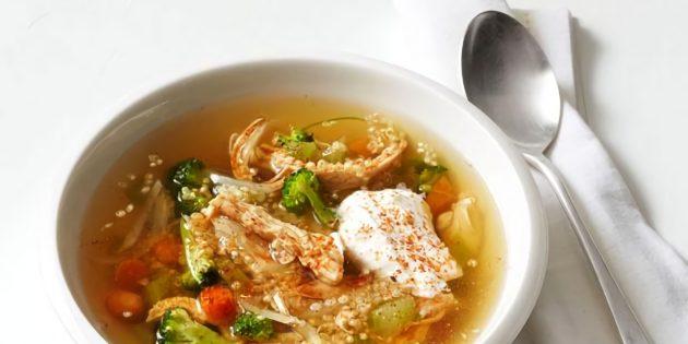 Куриный суп с киноа