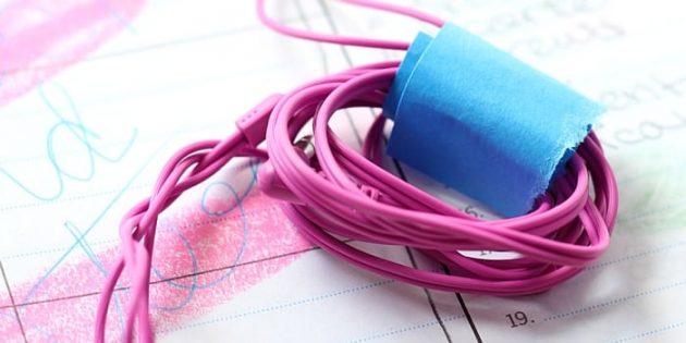 Бумага для заметок на кабелях