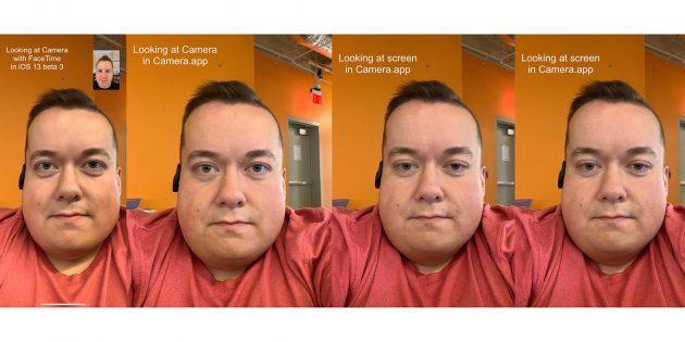 Функция FaceTime в iOS 13, которая направляет взгляд в камеру