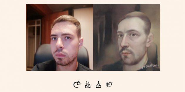 Результат работы нейросети, которая превращает фото в картины эпохи Возрождения