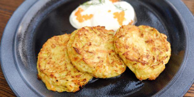Котлеты из кабачков с картофелем и сыром