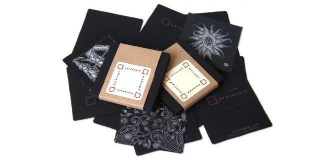 Чёрная бумага для танглов