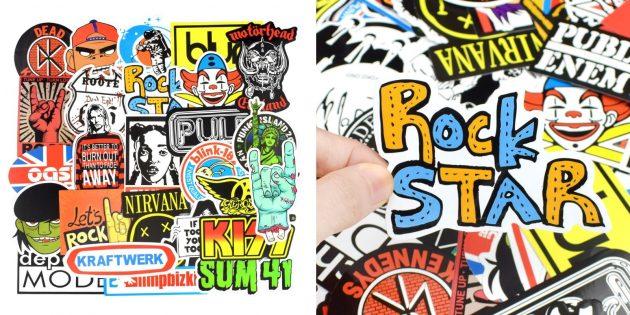 Стикеры с рок-группами