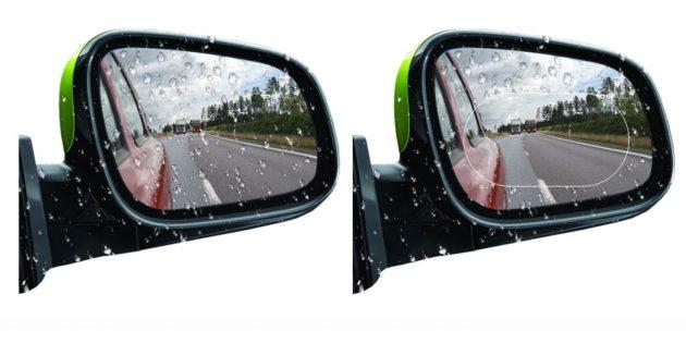 Водоотталкивающая наклейка на боковое зеркало