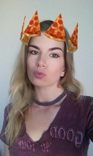 15 необычных масок для историй в Instagram: пицца