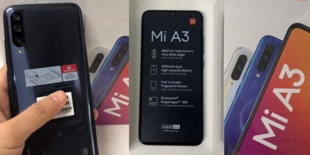 распаковка Xiaomi Mi A3