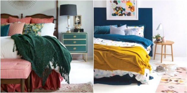 Контрастные постельные принадлежности