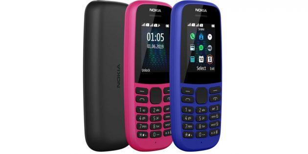 Представлены телефоны Nokia 220 4G и Nokia 105
