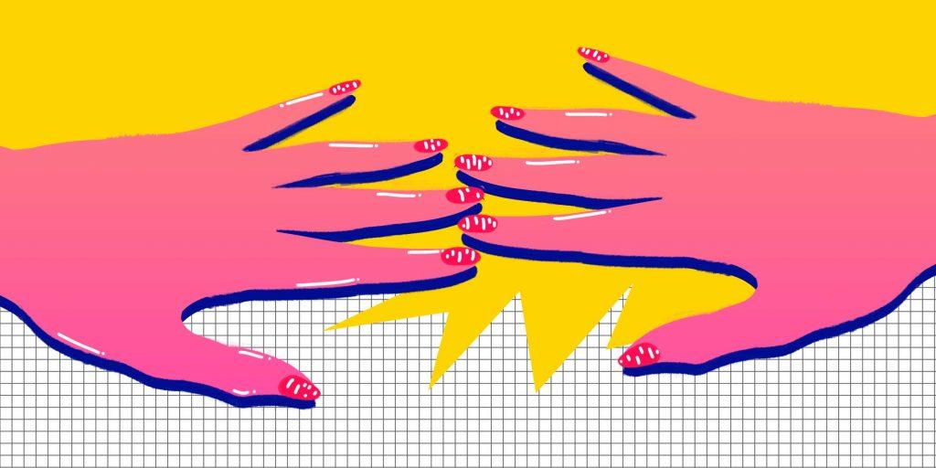 Налет на ногтях рук