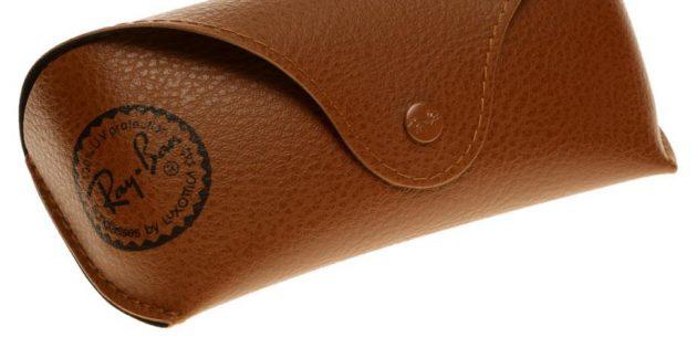 Оригинал и подделки очков Ray-Ban: в комплекте должен быть кожаный чехол