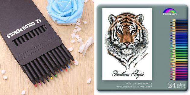 Подготовка к школе: цветные карандаши