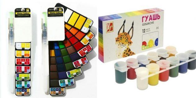 Подготовка к школе: краски