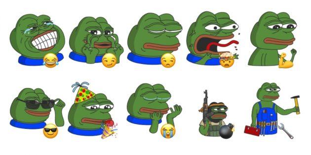 стикеры для Telegram с лягушонком Пепе