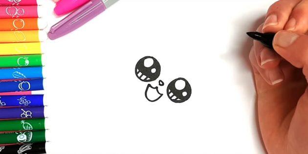 Как нарисовать кошку аниме: Чуть выше добавьте маленький носик