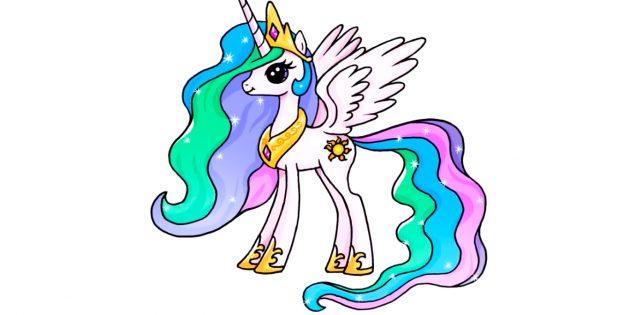 Как нарисовать единорога в стиле My Little Pony