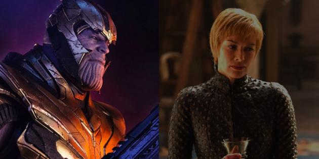 """Сравнение персонажей """"Мстители"""" и """"Игры Престолов"""". Танос и Серсея Ланнистер"""
