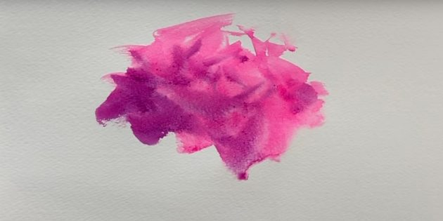 Подкрасьте вторым цветом низ и левую сторону розы