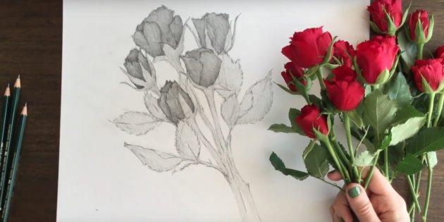 С помощью штриховки сделайте рисунок поярче