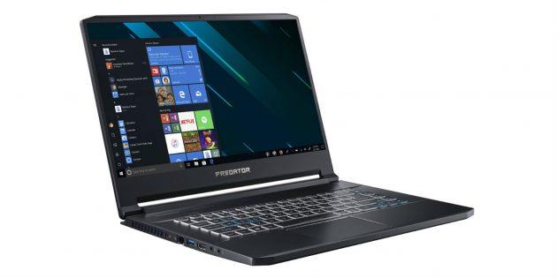 Топовые ноутбуки 2019года: Acer Predator Triton 500