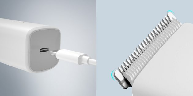 Заряжается Enchen Boost через разъём USB Type-C
