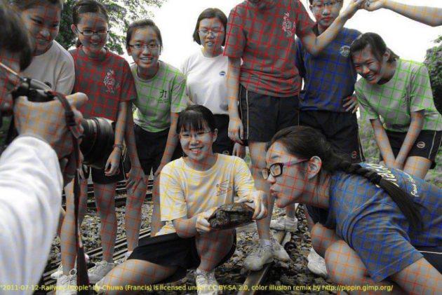 Оптическая иллюзия делает чёрное-белое фото цветным