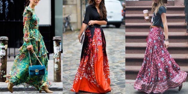 Стиль бохо: надевайте длинные платья и юбки