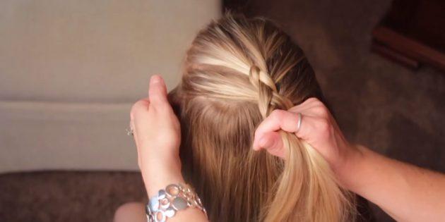Вплетайте волосы по бокам