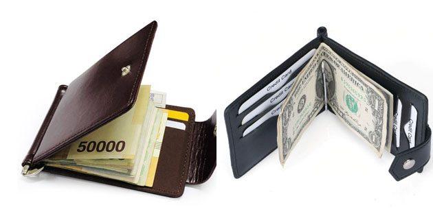 Мужской кошелёк с зажимом