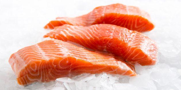 В каких продуктах витамин д: лосось