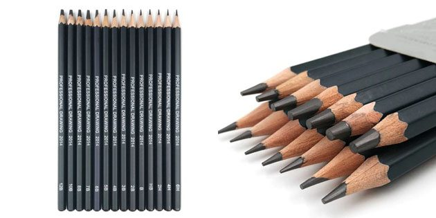 Канцелярия для школы: набор карандашей