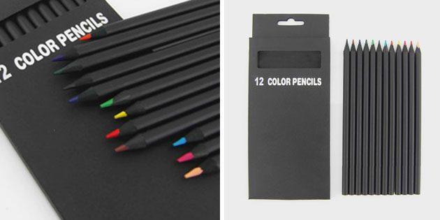 Канцелярия для школы: цветные карандаши