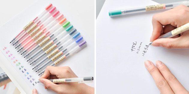 Канцелярия для школы: набор цветных ручек