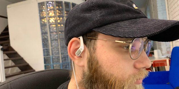 Sennheiser Ambeo Smart Headset в ухе