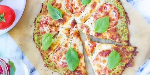 Пицца из кабачков с сыром и помидорами в духовке