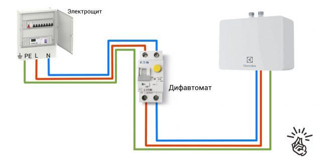 Напорные проточники обычно подключаются не в розетку, а сразу к электрощиту