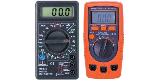 Установите режим измерения силы тока (DCA, mA)