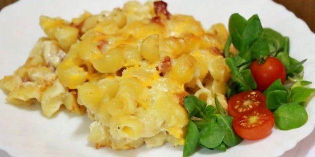 Макароны с яйцом — вкусно и недорого