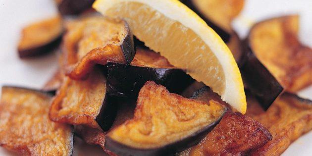 Жареные баклажаны с лимоном