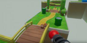 Видео дня: «Марио» как 3D-шутер с видом от первого лица