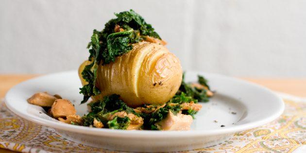 Картошка хассельбек с лисичками